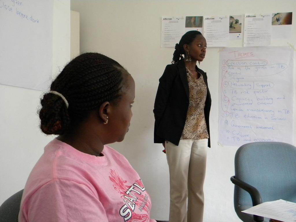 Alice explains her story during TBPV training