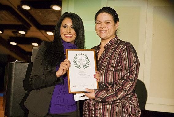 TBPV participant Rachel Orduno (R) & Rania Ismail