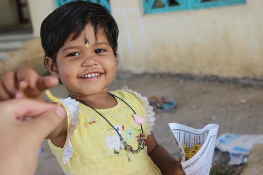 Vaishali,Sharing her treats