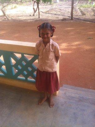 Rajarajeshwari ready for school