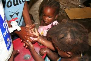 Hand washing together