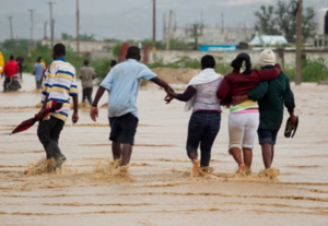 Flooding following the storm. Photo: Reuters