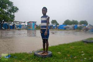 Surveying the floods. Photo: Reuters