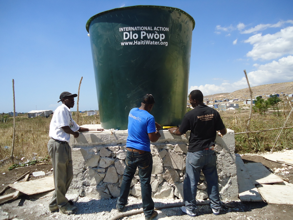 New water tank in Camp Corail