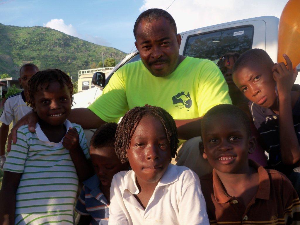 Children of farming families in the Artibonite