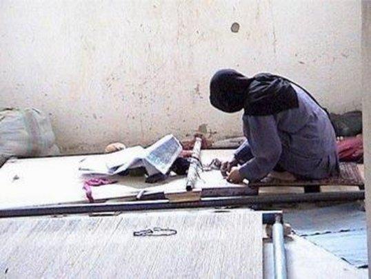 Carpet Weaving Student at Work