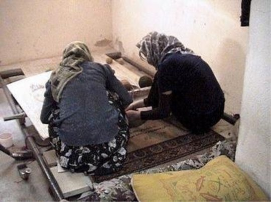 Carpet Weaving Students at Work