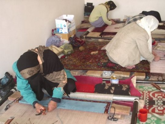 Afghan Women Learn Traditional Carpet Weaving Globalgiving