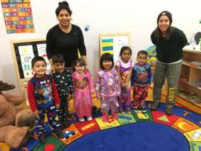 Pajama Day in the Preescolar Meerkat Room!