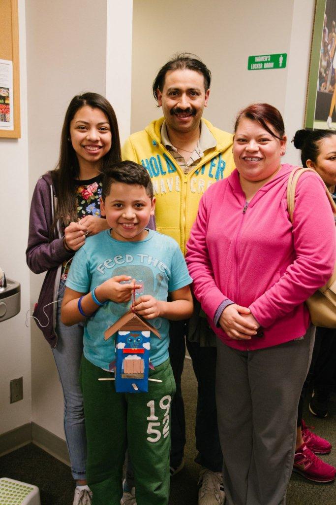 Cesar & His Family Show Off Their Birdhouse