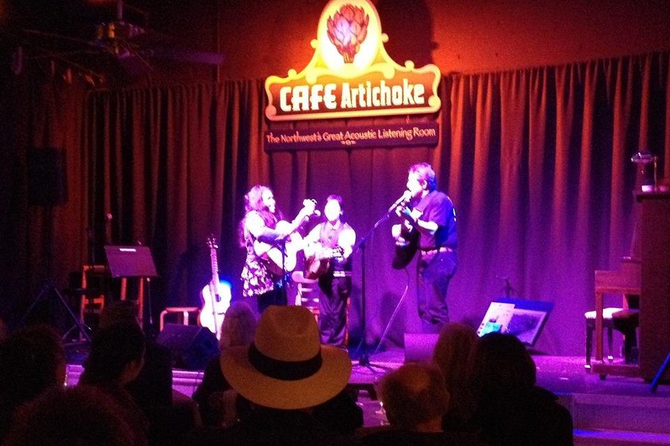 Kassandra, Ema and Coach Bob at Artichoke Music