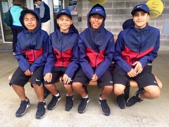 Davis Cup Ball Kids: Cesar, Angel, Gerry, & Miguel