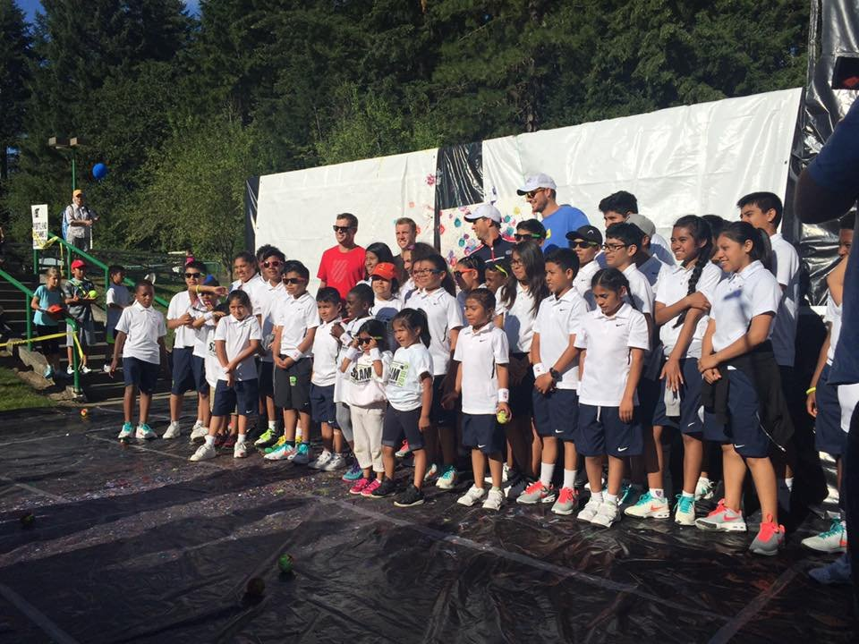 Scholar Athletes & US Davis Cup Team with Painting
