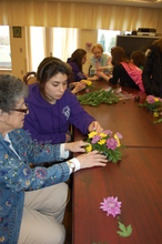 Flower Arranging -- an intergenerational project