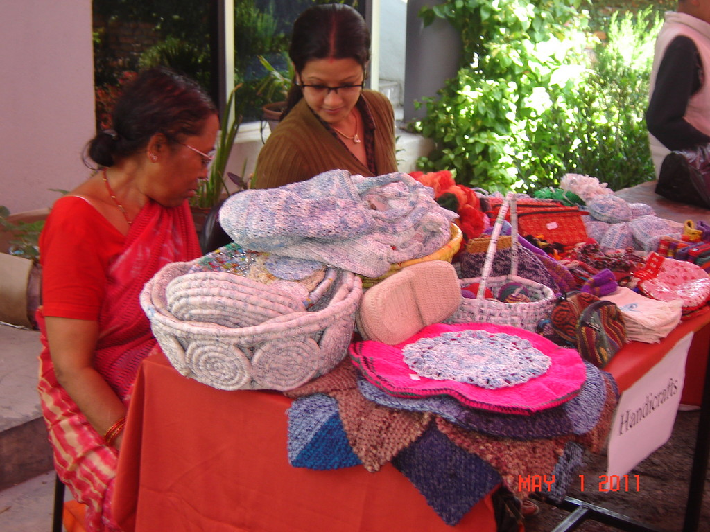 Stall on ReCycled materials in Haat-Bazaar