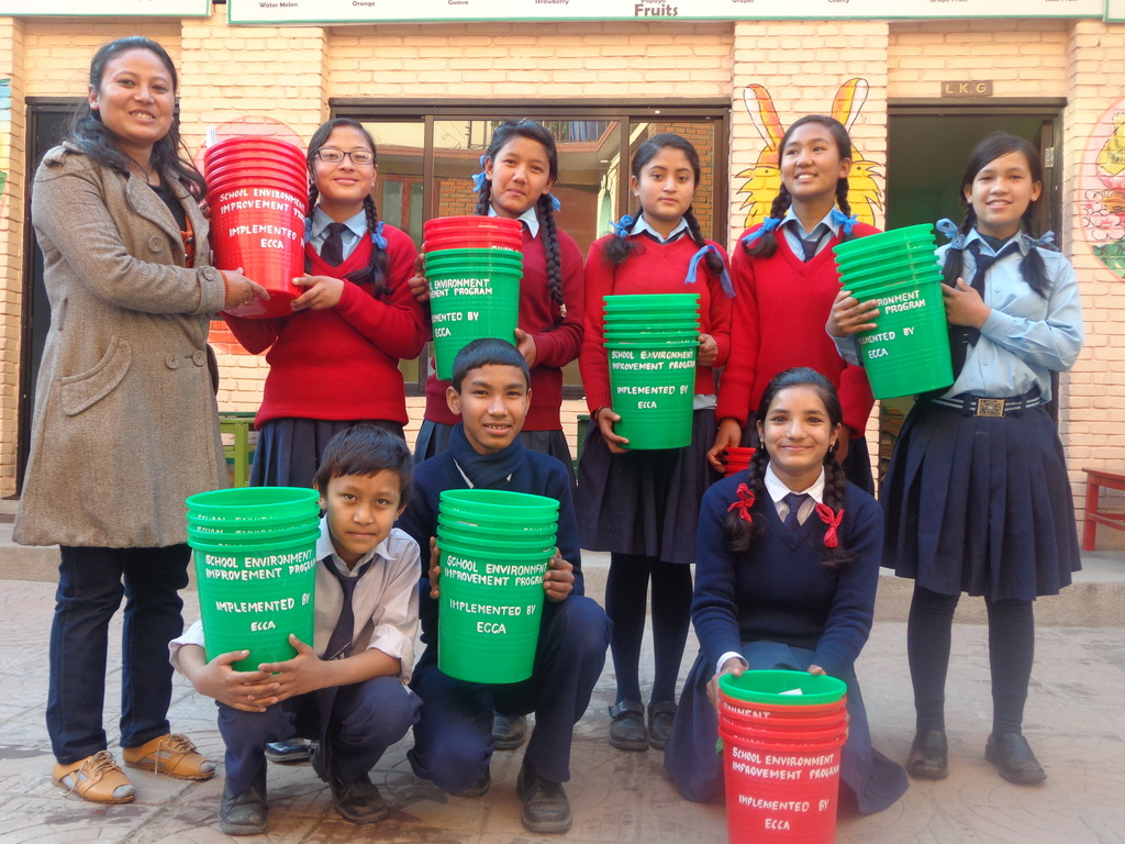 Supporting Dustbin for Nature Club