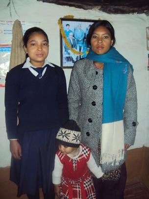 Lalita Budhathoki with her mother.