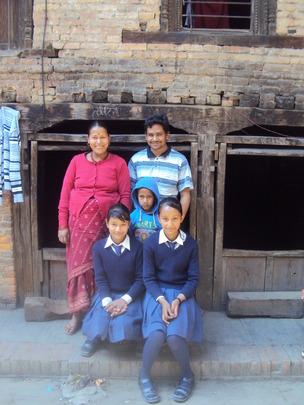 Mandira with her family.