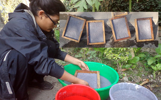 Producing Paper from reusing waste paper