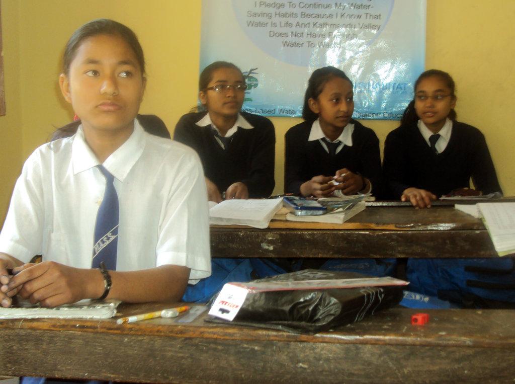 Susma Bista in her classroom