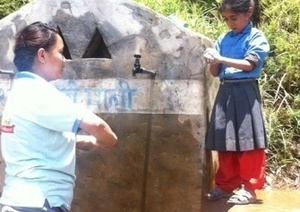 Teaching proper hand washing technique