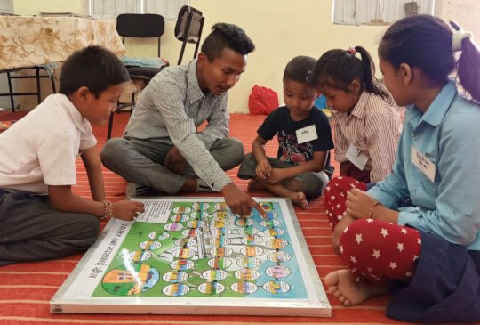 Dice game which incorporates  WASH messages