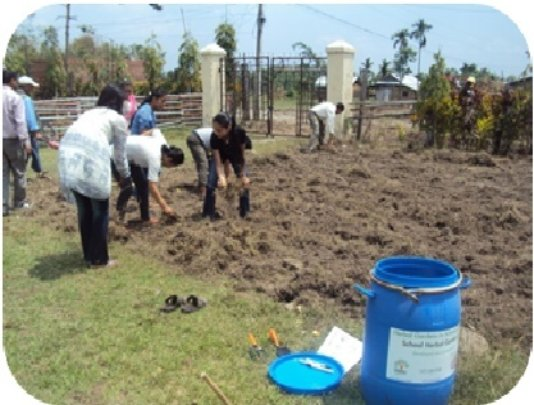 Beautification of school compound