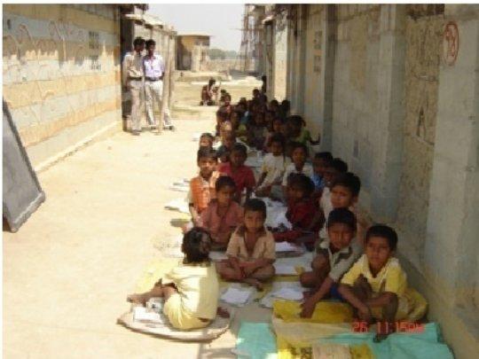 Children in village school