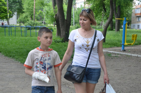 Stroll to Park with Liudmila
