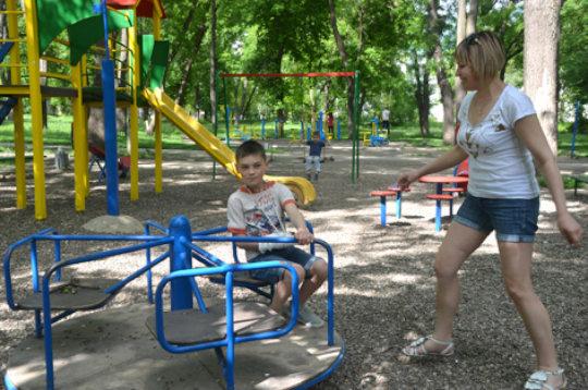Liudmila Gives Vladislav a Whirl