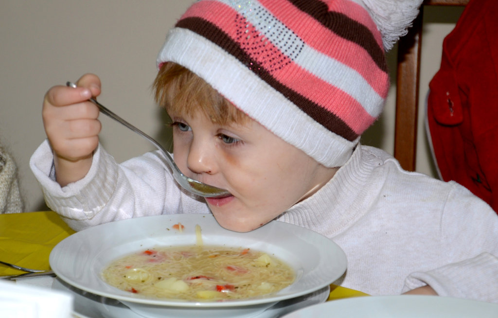 Ana Eating Soup