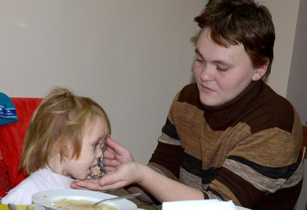 Olga Feeding Ana