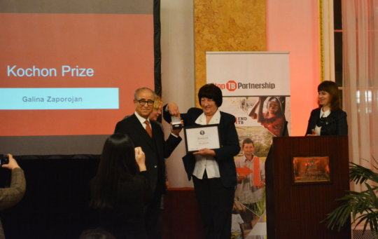 Chairman Kim Gives Galina Kochon Prize
