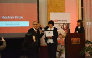 Chairman Kim Gives Galina Kochon Prize