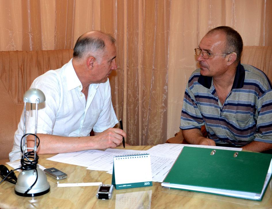Igor talks to Valerii