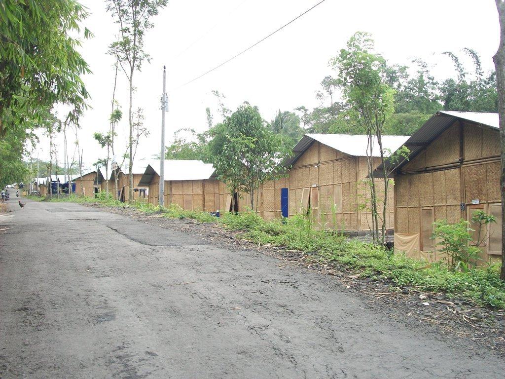 Refugee barrack in Cangkringan Sleman Yogyakarta