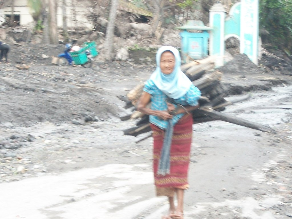Aminah looking for firewood to be sold again