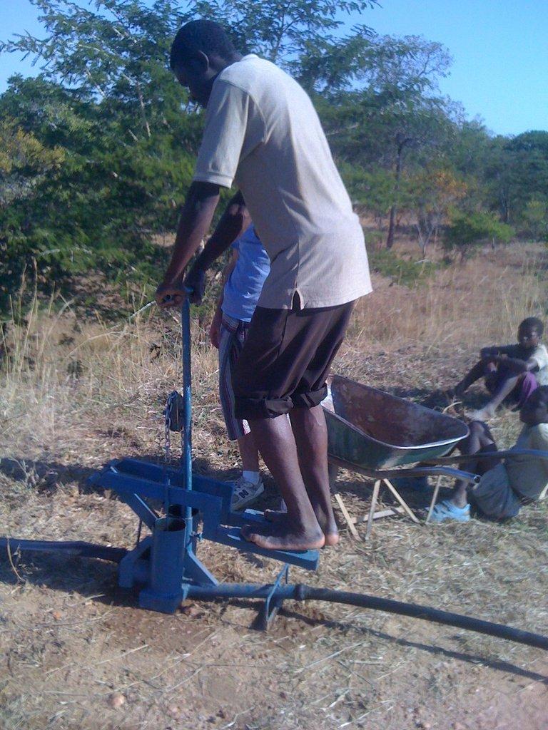 A treadle pump