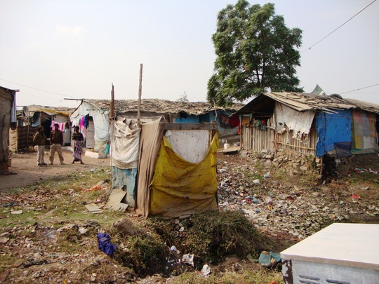 A typical slum where our beneficiaries live