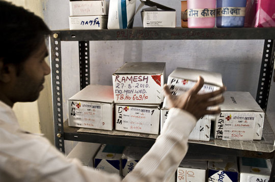 Boxes of TB medication