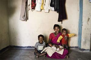 Patient with her children