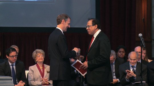 Mr. Sandeep Ahuja receiving Public Service Award