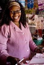 Felicitus in her shop