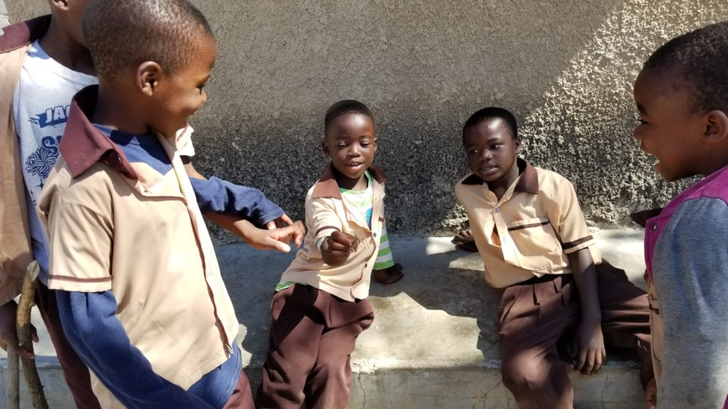 Children playing in their neighborhood