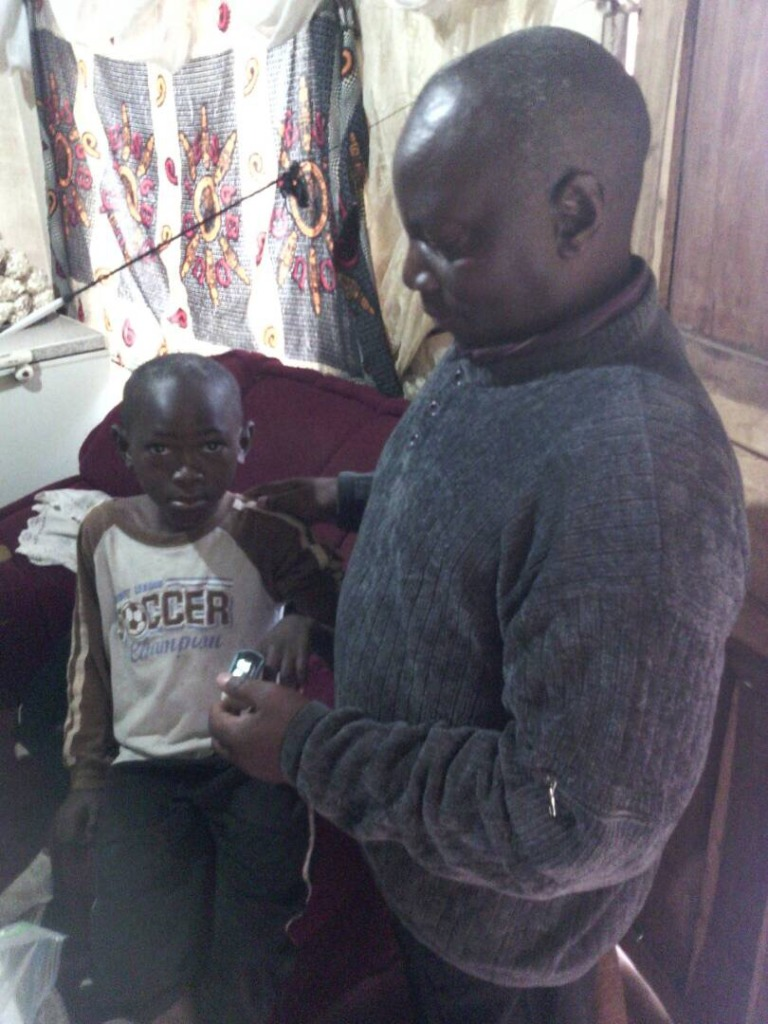 Health check-up at home for an HIV+ child