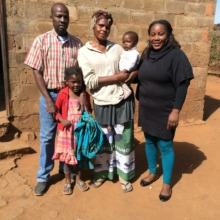A  beneficiary family with the Project Nurse