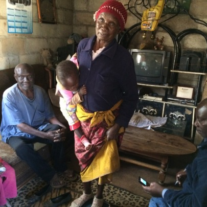 Health check up in a beneficiary family's home