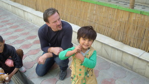 meeting one of the orphans we support in Kabul