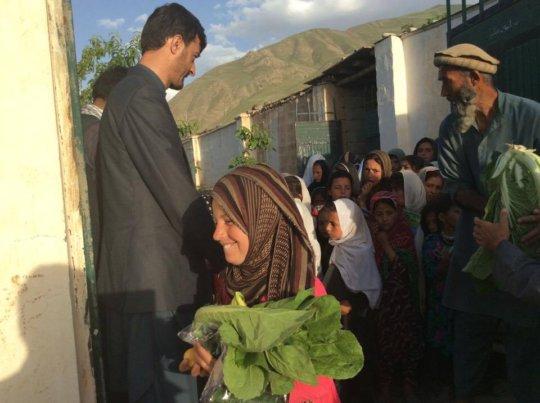 vegetable distribution in Baharak
