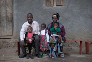 Client Clementine Uzabakiriho and her family